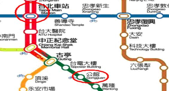 Taipei Railway Station Map